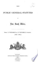 The Public General Statutes of New South Wales