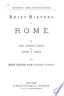 Brief History Of Rome Book PDF