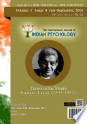 The International Journal Of Indian Psychology Volume 3 Issue 4 No 68