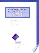 Research-based Principles for Adult Basic Education Reading Instruction