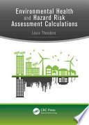 Environmental Health And Hazard Risk Assessment Book PDF