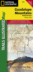 National Geographic Trails Illustrated Map Guadalupe Mountains National Park