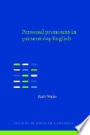 Read Online Personal Pronouns in Present-Day English For Free