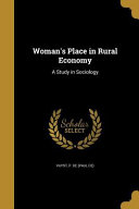 Womans Place In Rural Economy