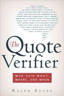 The Quote Verifier