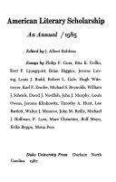 American Literary Scholarship 1985