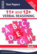 Anthem Test Papers 11+ and 12+ Verbal Reasoning Pdf/ePub eBook
