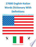 27000 English Italian Words Dictionary With Definitions Book