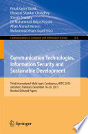 Communication Technologies  Information Security and Sustainable Development
