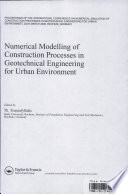 Numerical Modelling of Construction Processes in Geotechnical Engineering for Urban Environment