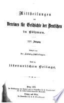 Mittheilungen des Vereines für Geschichte der Deutschen in Böhmen