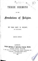 Three Sermons On The Foundations Of Religion Second Edition