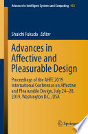 Advances in Affective and Pleasurable Design Book