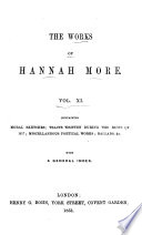 The Works Of Hannah More Moral Sketches Tracts Etc Index Book PDF