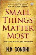 Pdf Small Things Matter Most