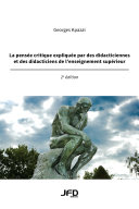 Pdf La pensée critique expliquée par des didacticiennes et des didacticiens de l'enseignement supérieur – 2e édition Telecharger