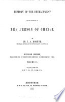 History of the Development of the Doctrine of the Person of Christ