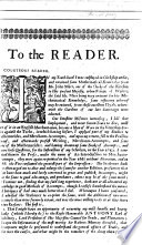 Begin  To the Reader  etc   A separate issue of the author s preface to the 1675 edition of his work    An Introduction to Merchants Accounts
