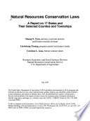 Natural Resources Conservation Laws