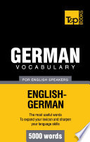 German Vocabulary For English Speakers 5000 Words Book PDF