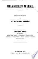 Shakspere s Werke  Herausgegeben und erkl  rt von N  Delius Book
