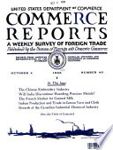 COMMERCE REPORTS. A WEEKLY SURVEY OF FORREIGN TRADE. OCTOBER 4, 1926. NO. 40.