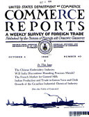 COMMERCE REPORTS  A WEEKLY SURVEY OF FORREIGN TRADE  OCTOBER 4  1926  NO  40
