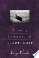 21 Tests Of Effective Leadership Book PDF