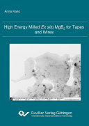 High Energy Milled Ex Situ Mgb2 For Tapes And Wires Book PDF