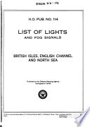 List Of Lights And Fog Signals British Isles English Channel And North Sea