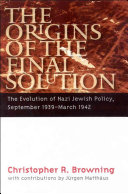 The Origins of the Final Solution