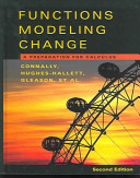 Functions Modeling Change Precalculus Book