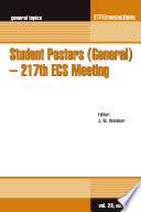 Student Posters General 217th Ecs Meeting Book PDF