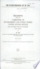 The Water Research Act of 1991