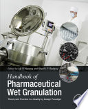 Handbook of Pharmaceutical Wet Granulation