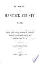 History of Hancock County  Ohio Book
