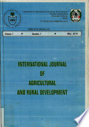 International Journal of Agricultural and Rural Development