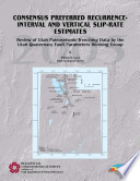 Consensus Preferred Recurrence interval and Vertical Slip rate Estimates Book