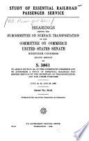Study of Essential Railroad Passenger Service Book