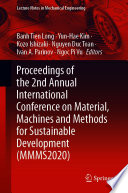 Proceedings of the 2nd Annual International Conference on Material  Machines and Methods for Sustainable Development  MMMS2020  Book