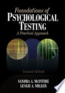 Foundations Of Psychological Testing Book