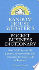 Random House Webster's Pocket Business Dictionary