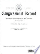 Congressional Record, V. 152, Pt. 14, September 2006