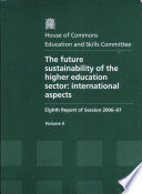 The future sustainability of the higher education sector