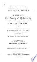 Christian Behaviour Book PDF