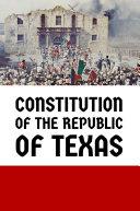 Constitution of the Republic of Texas