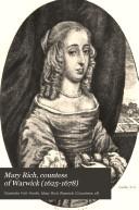 Mary Rich Countess Of Warwick 1625 1678