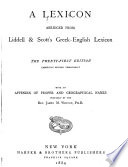 A Lexicon Abridged from Liddell   Scott s Greek English Lexicon
