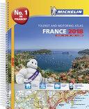 France 2018 - Tourist & Motoring Atlas A4-Spiral