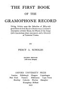 The First Book Of The Gramophone Record